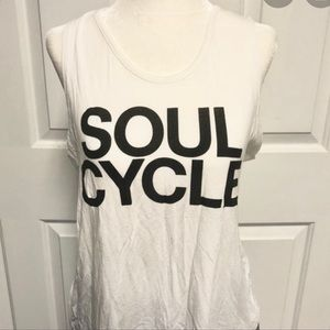 SoulCycle Classic Black and white graphic tank